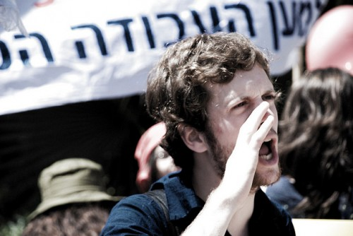 May 1st parade of the socialist youth movements in Tel-aviv